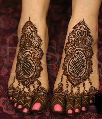 Paisley Print For Feet
