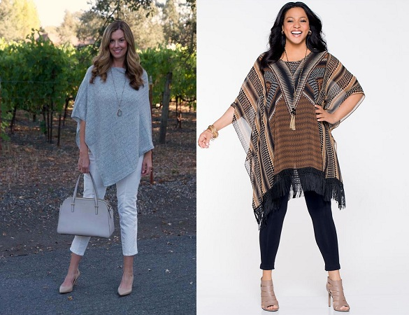 Poncho For Skinny And Plus Size Body