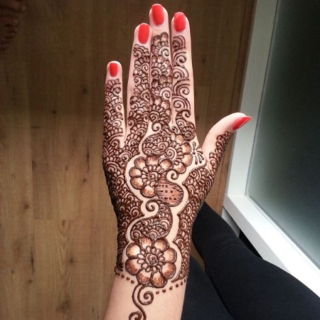 Punjabi Mehendi Design For Back