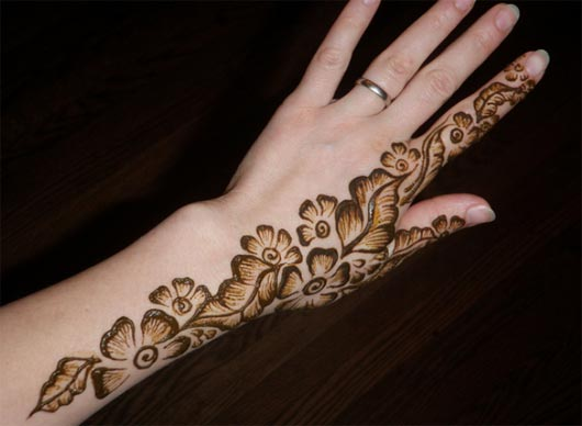 Shaded Mehendi Back Design