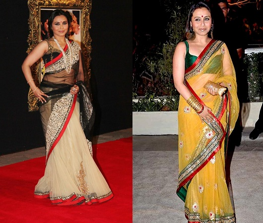 Sheer Saree For Plus Size Body