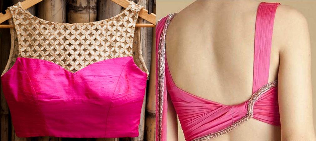 Silk material blouse