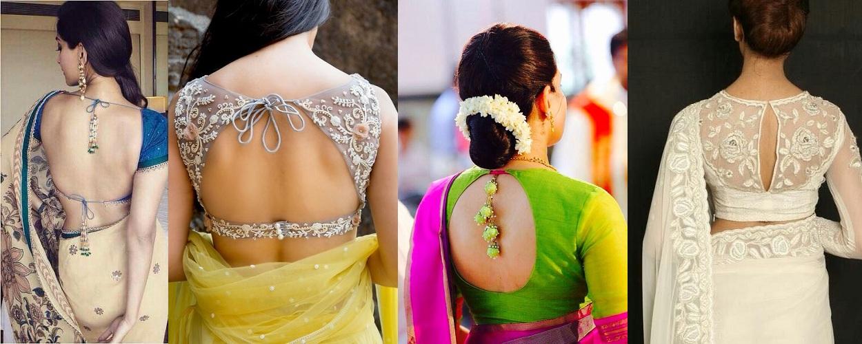 Top Trending 26 Type Of Blouse Back Designs Fashionbuzzer Com