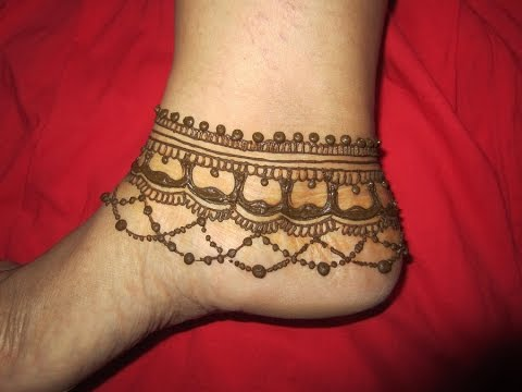 anklet mehendi design for feet