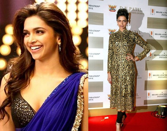 Deepika Padukone In Bikin Choli And Long length Kurti