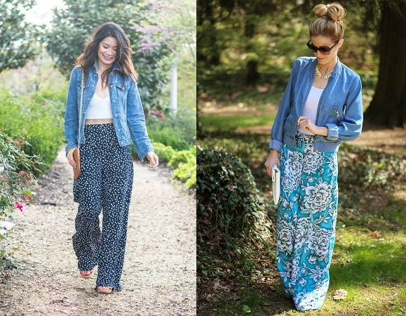 Denim Jacket With Palazzo Pants