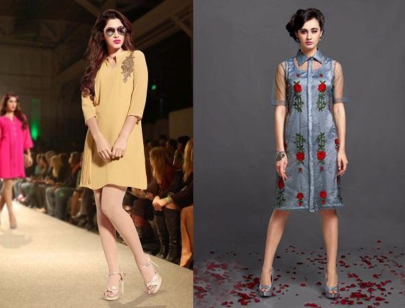 Designer Kurtis Without Leggings