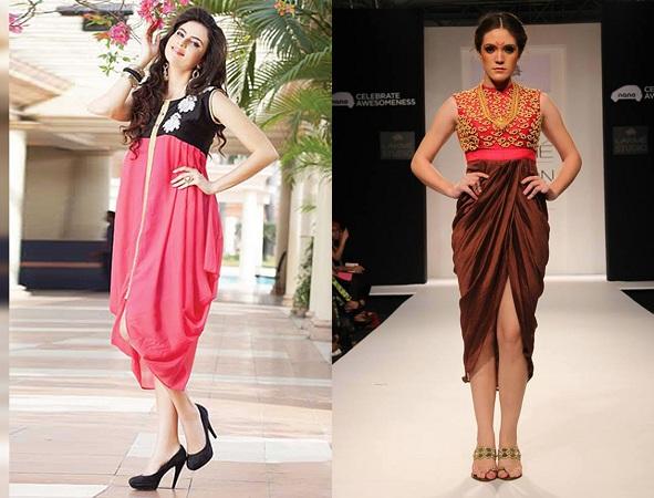 Dhoti-Style Kurti Without Leggings