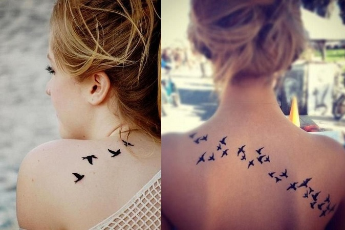 Flying Bird Tattoo