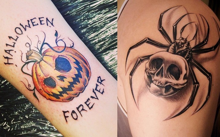 Ghost And Halloween Tattoos