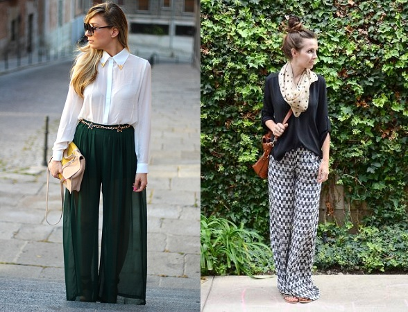 Palazzo Pants With Long Sleeved Shirts