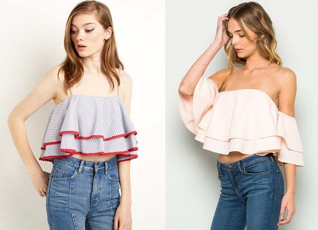 Ruffled Crop Tops