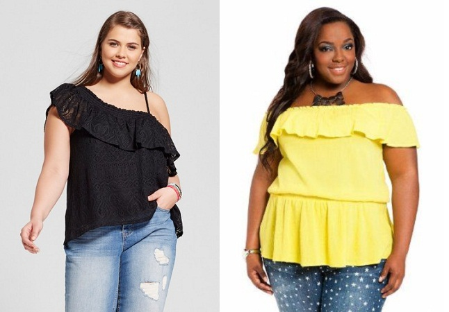 Ruffled Top For Plus Size Women