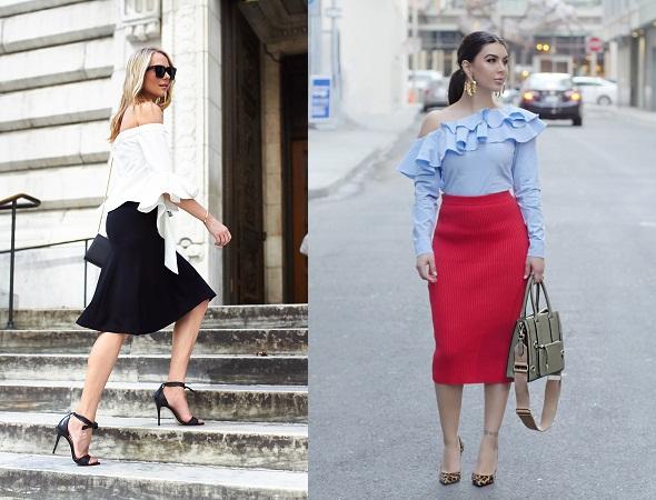 Ruffled Tops With Midi Skirt