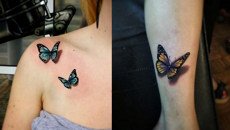 Sensational 3D Butterfly Tattoos