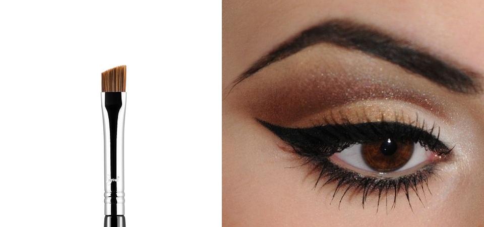 Shape Your Eyes With Slanted Eyebrow Brush