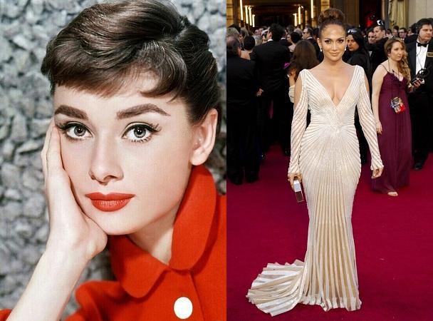 Audrey Hepburn And Jennifer Lopez Style