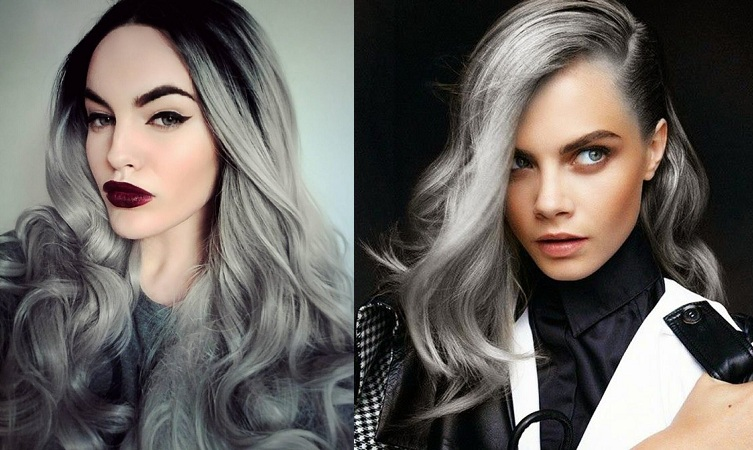 Blonde-Gray Hair Color