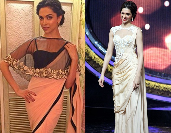 Deepika Padukone In Cape And Coreset Blouse