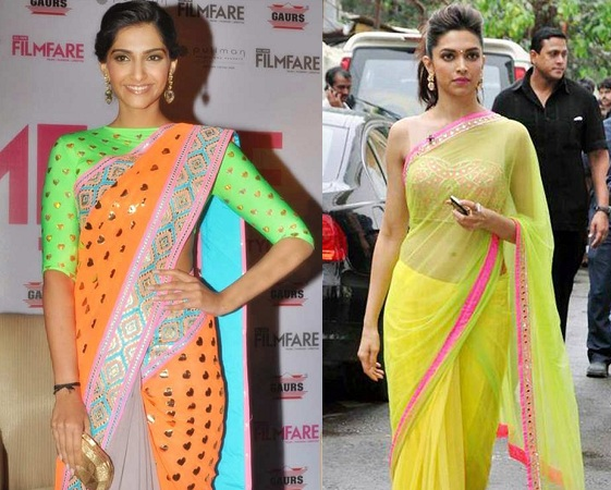 Fluorescent Saree Blouse