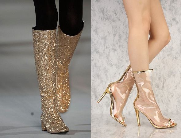 Gold Booties