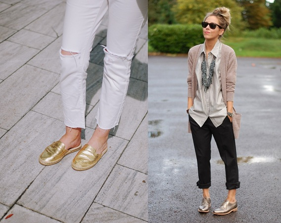 Golden Shies With Cropped Jeans