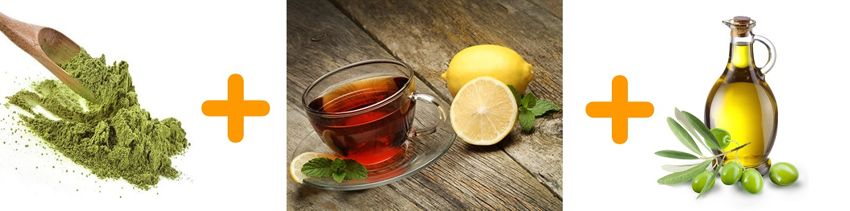 Heena Olive Oil Black Tea Mix For Black Hair