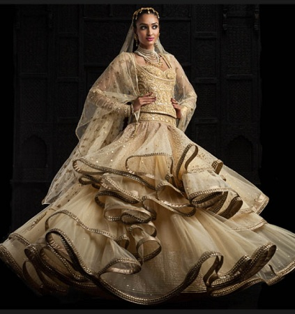 Lehengas With Frills