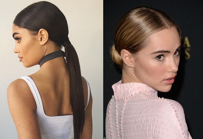 Make A Ponytail And Wrap Around The Hair