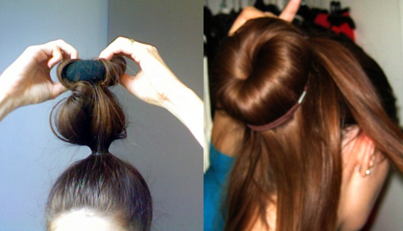 Make Hair Roll With Donut