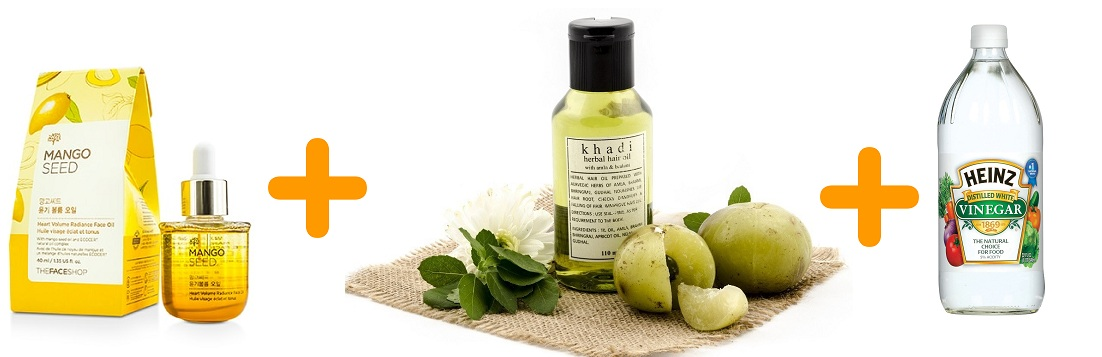Mango Kernel Oil Amla Oil Vinegar Mix For Black Hair