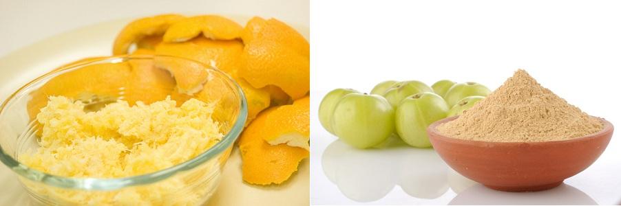 Orange Juice Amla Powder Mix For Black Hair