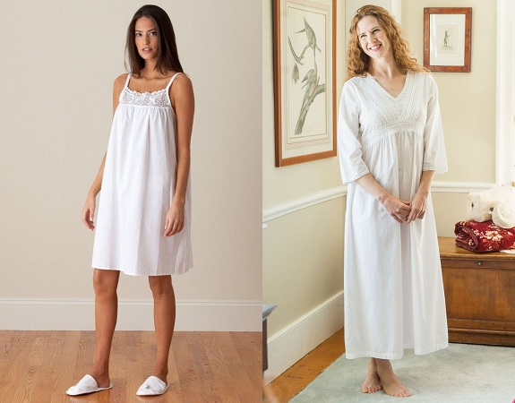 Pleated Bodice Nightwear Nighty
