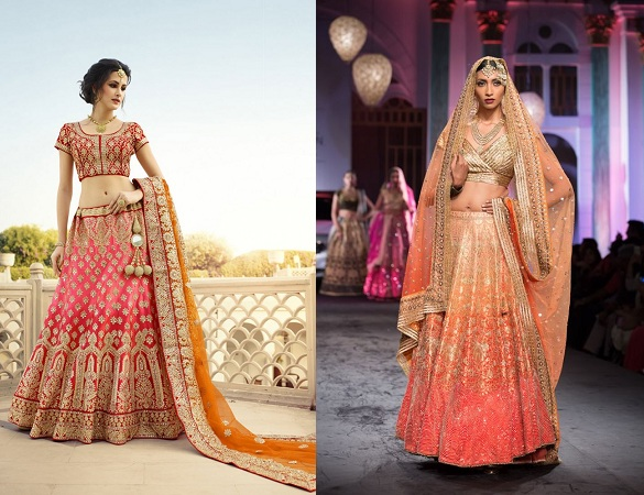 Salmon Color Lehenga