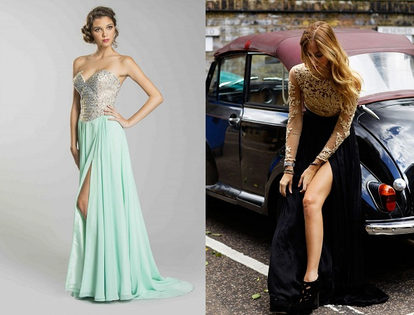 Slit Skirt Long Dress