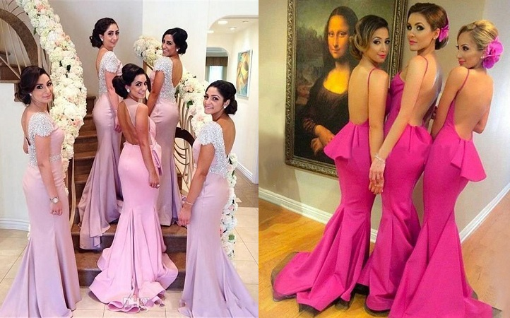 Backless Bridesmaid Gown