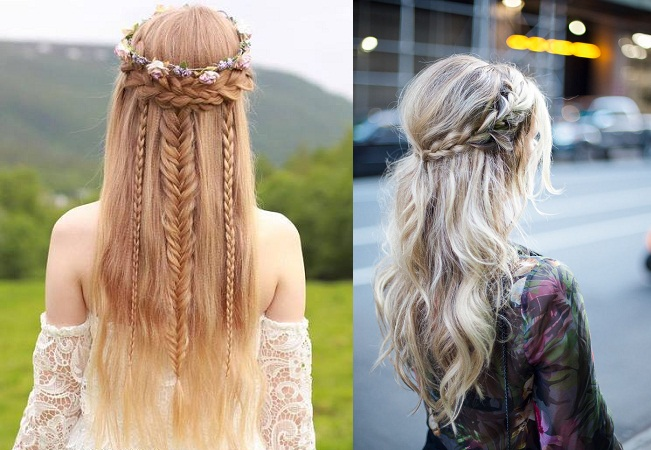 Boho Kind Straight Hair Up-Do