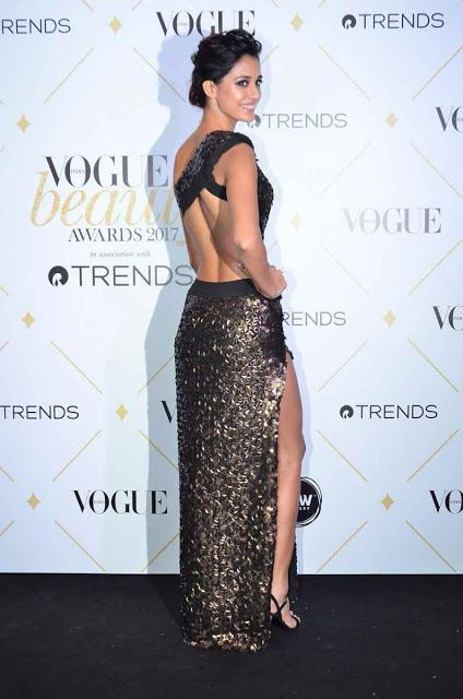 High Thigh Slit And Backless Gown