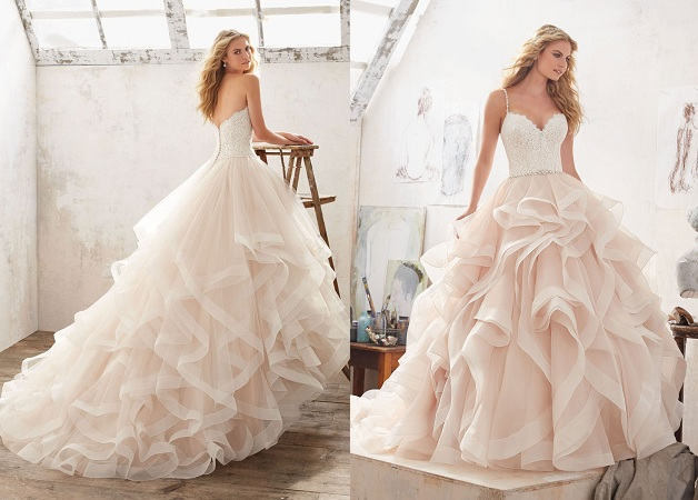 Skirt Ruffles And Layered Wedding Dress Styles