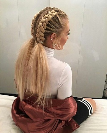Two Part Ponytail