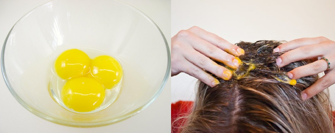 Egg Yolk Mask for Dry Hair