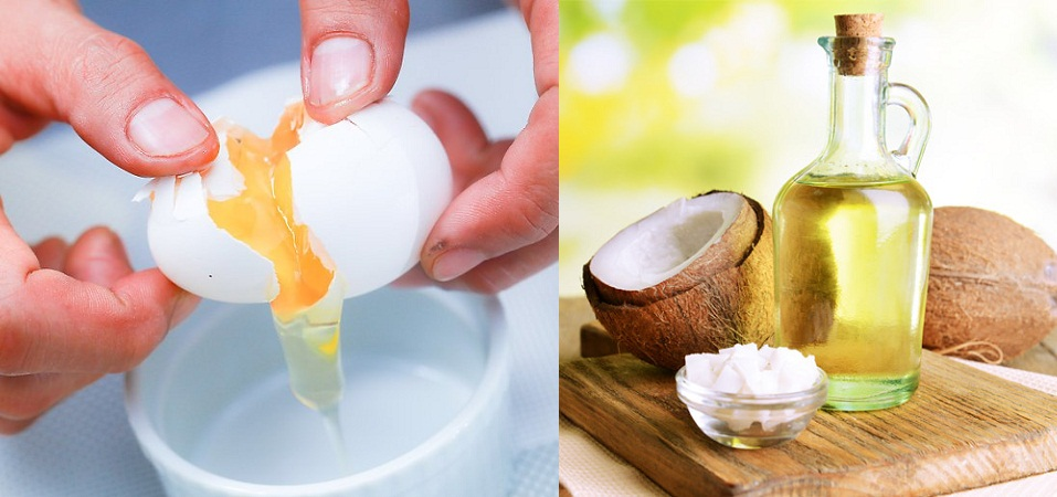 Egg and Coconut Oil Mask