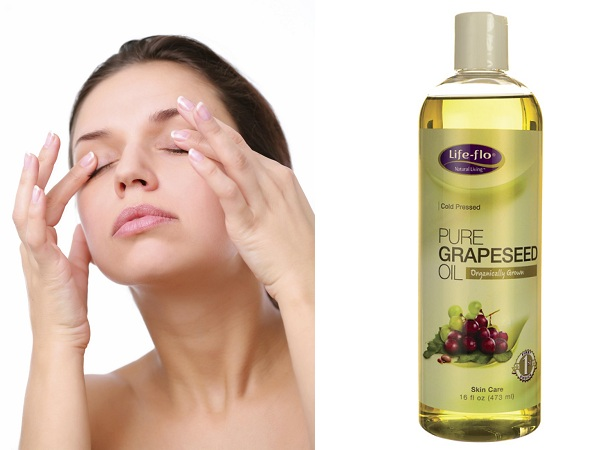 Grapeseed oil for dark circles