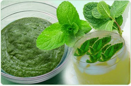 Peppermint for dark circles
