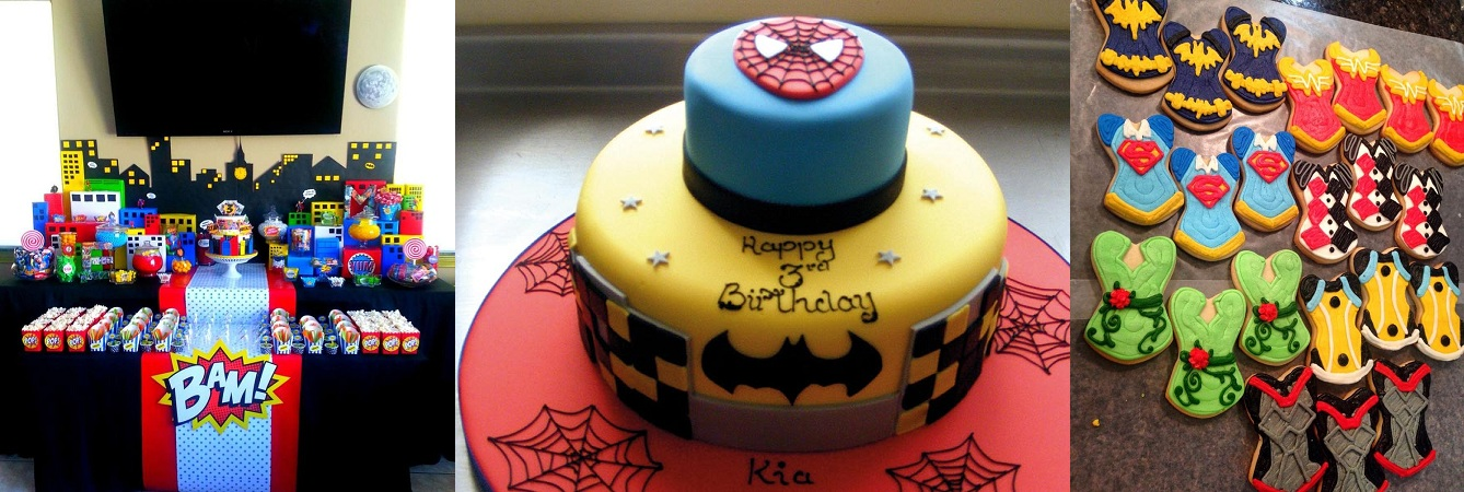 DC Comic Themed Birthday Party Celebration