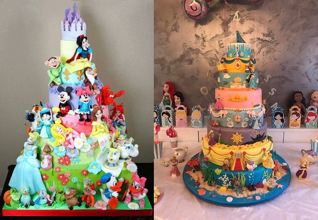 Disney Theme Birthday Cake