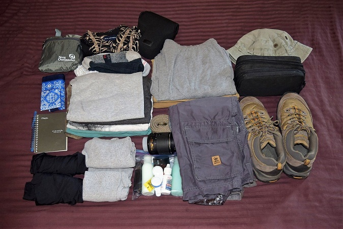Cloths to pack